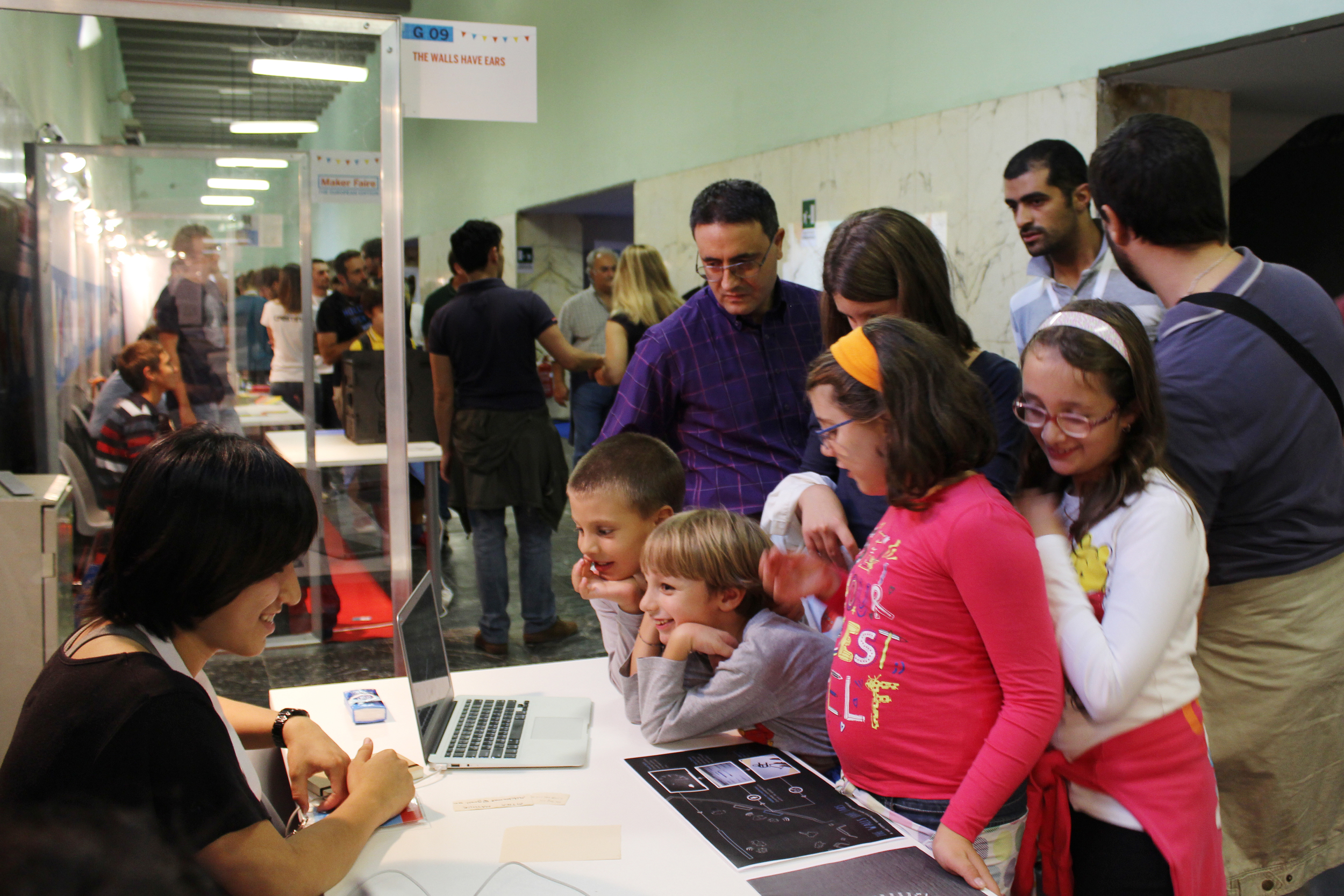 Exhibit at Maker Faire, Rome, 2013