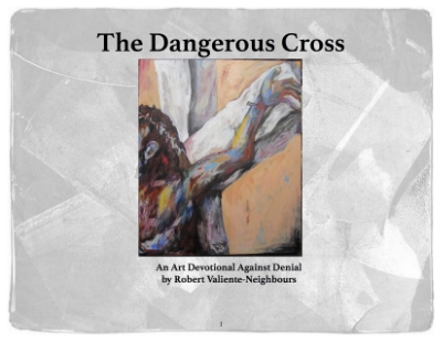 The  Dangerous Cross  is a devotional/reflection piece that uses subversive art and images of the crucifixion to question our own lives and the imperial realities we are caught up in. It looks at how art can help us mourn and see beyond our denial.