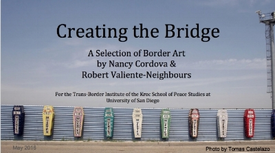 Crossing the Bridge  examines how art calls us to reimagine how we see and remember borders. It is focused on the U.S./Mexico Border and was compiled by RVN and  Nancy Cordova  in May 2016.