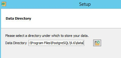 Specify data folder or use default