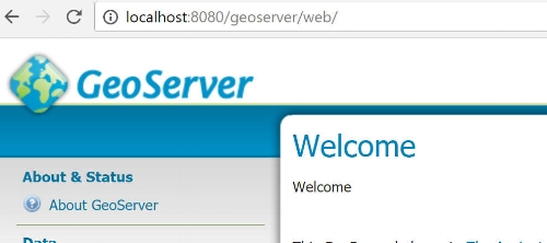 If you can access this page then it means GeoServer was installed properly