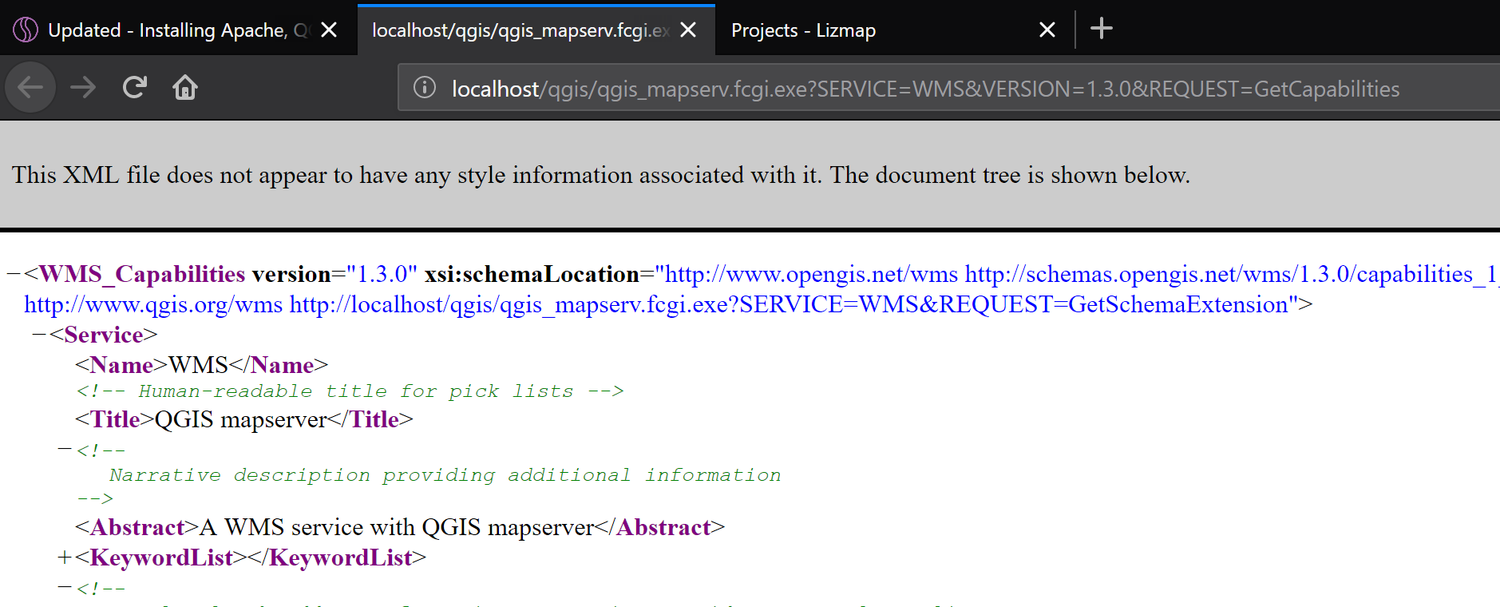 Updated - Installing Apache, QGIS Server, and Lizmap Web