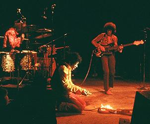 "16"" x 20"" Hendrix on Fire - $1800"
