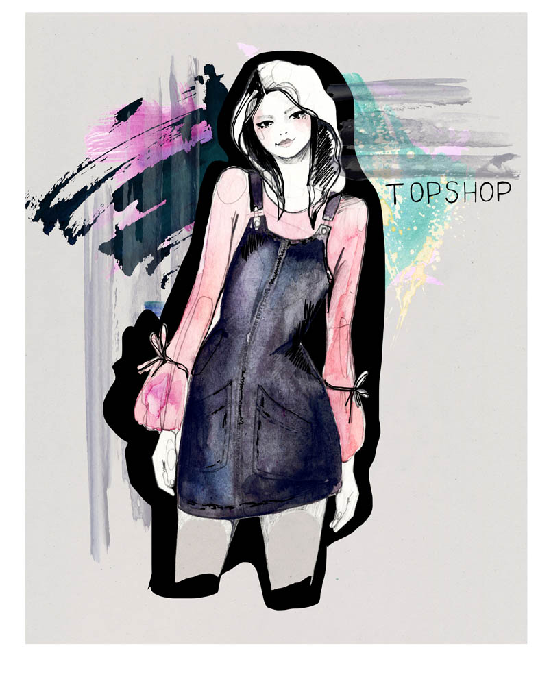 TOPSHOP Fashion illustration by Holly Sharpe