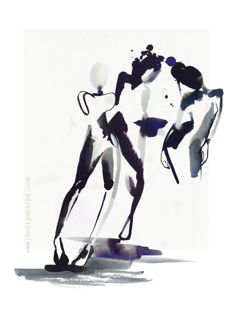 Inky dancers / illustration by Holly Sharpe