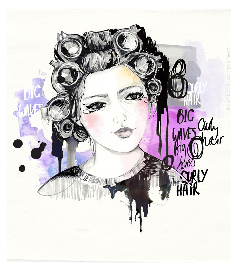Hair illustration by Holly Sharpe
