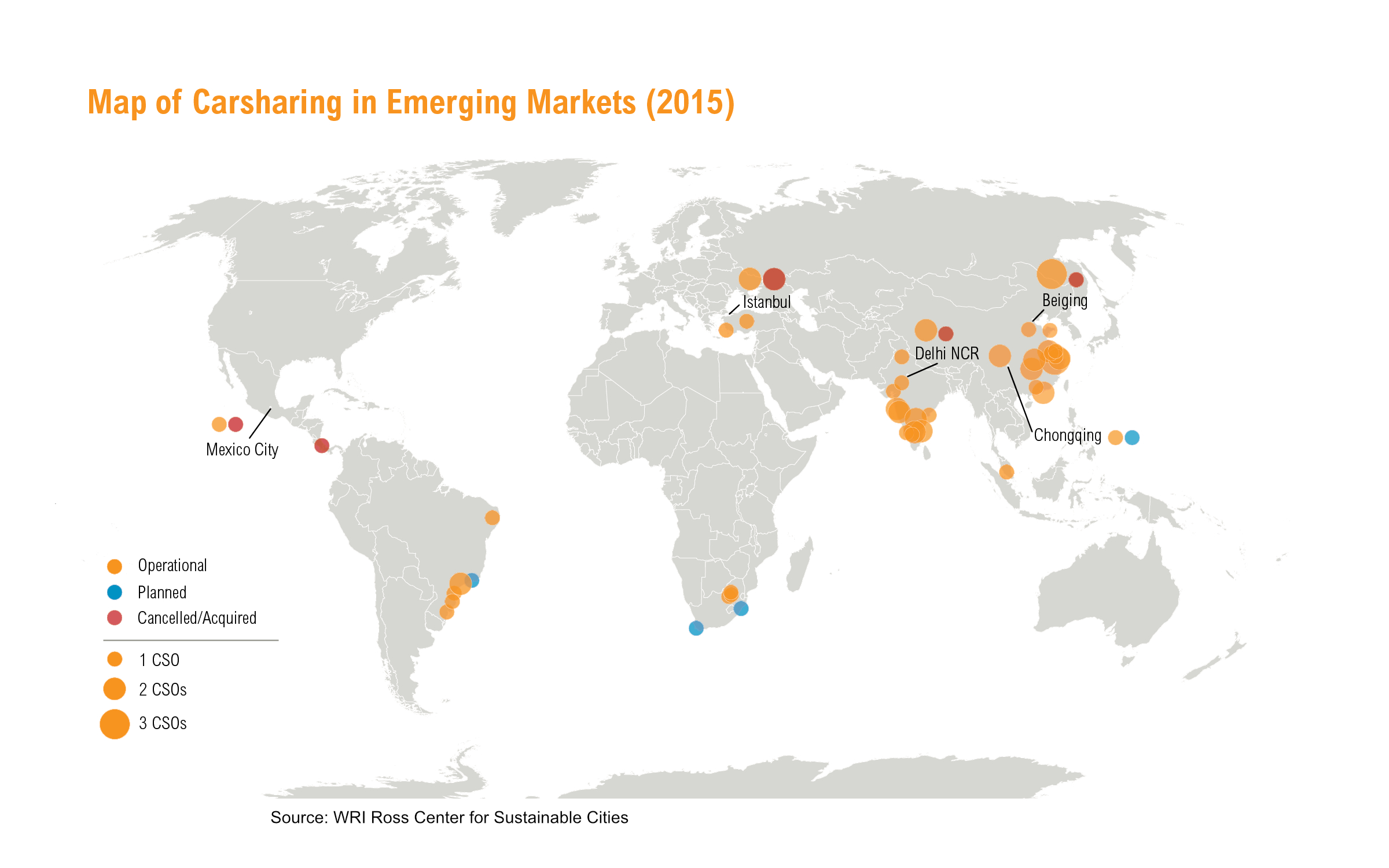 W ITH CSOS ON NEARLY EVERY CONTINENT, CARSHARING HAS TRULY BECOME A GLOBAL PHENOMENON .