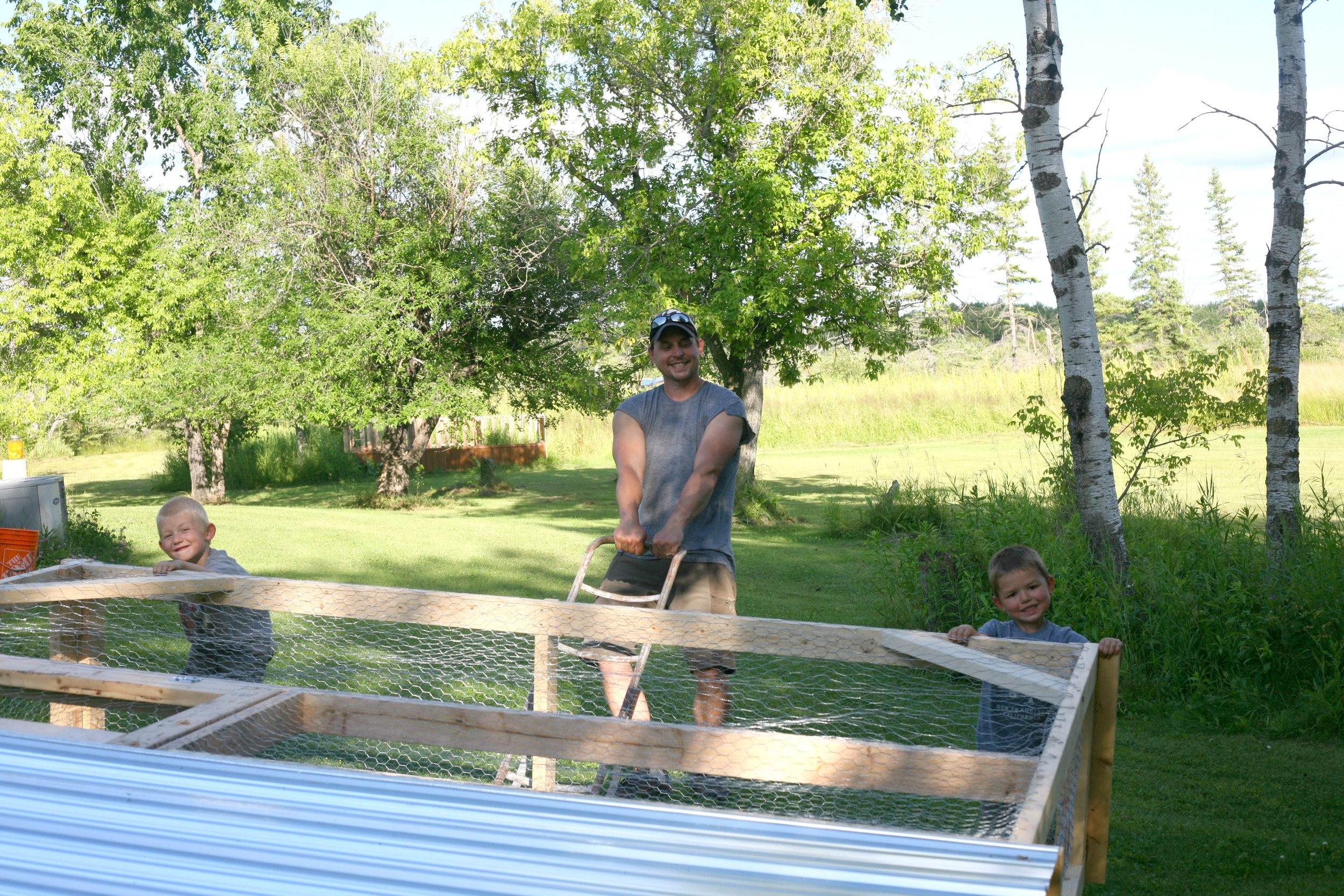 Side note - the Chicken Tractor I built was nowhere near as complicated as that cloning chamber I made 4 years ago: