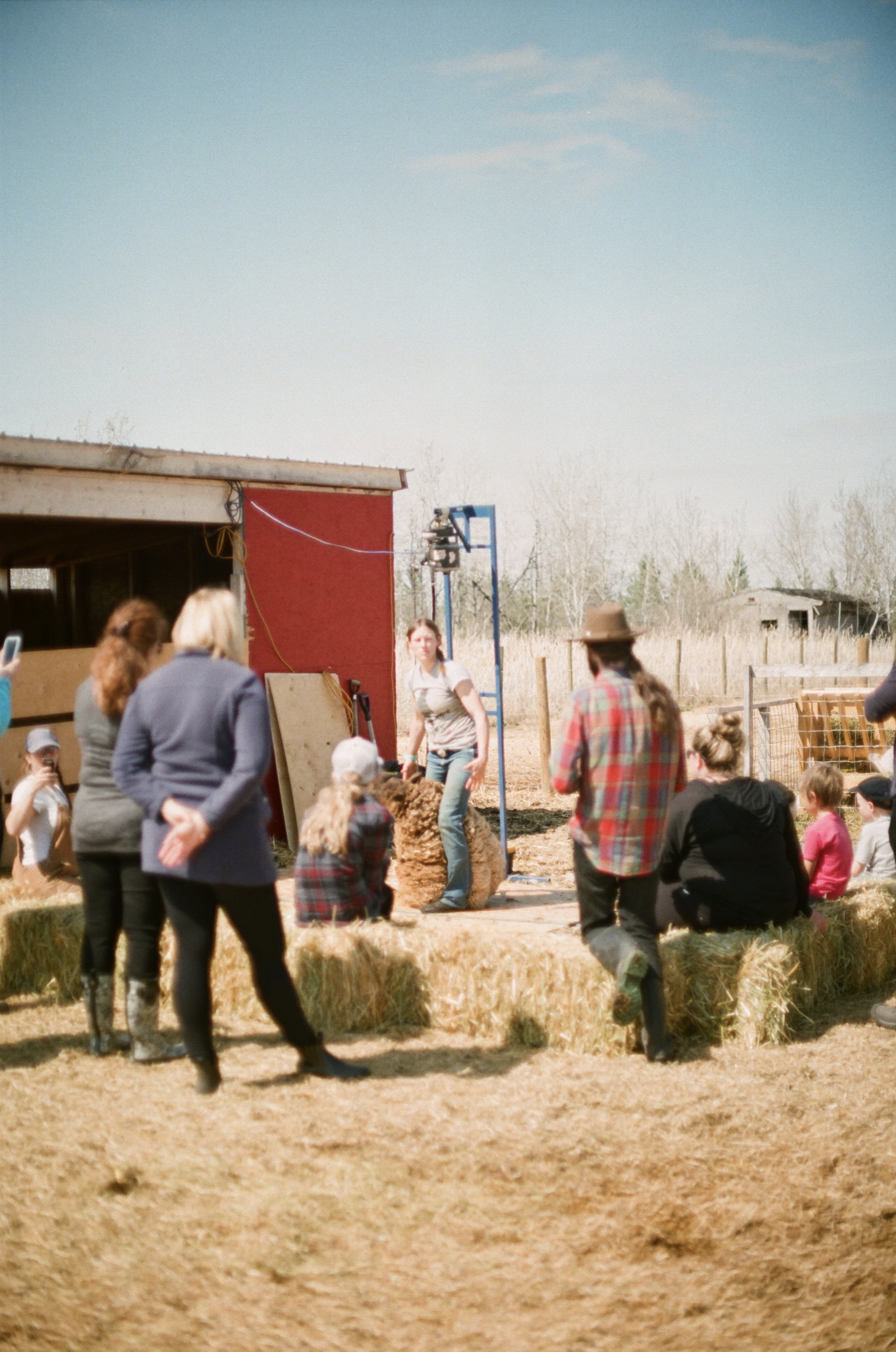 Stacey explaining the process of shearing                                          (Photo by Mackenzie Smith)