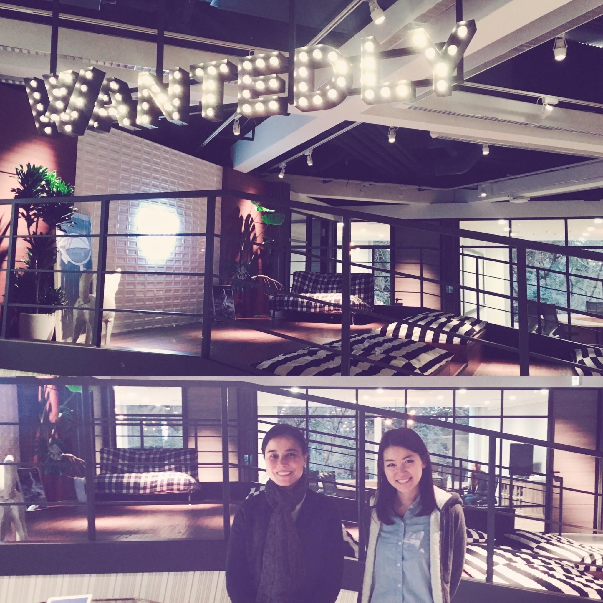 Akiko Naka & I at Wantedly HQ // Jan. 2017