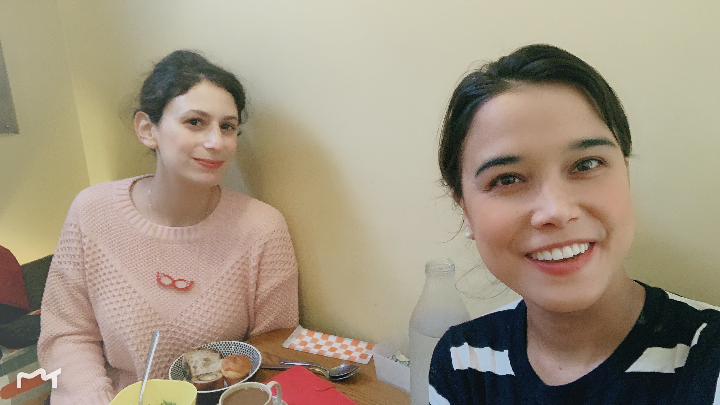 Lunch with an Israeli Student.JPG