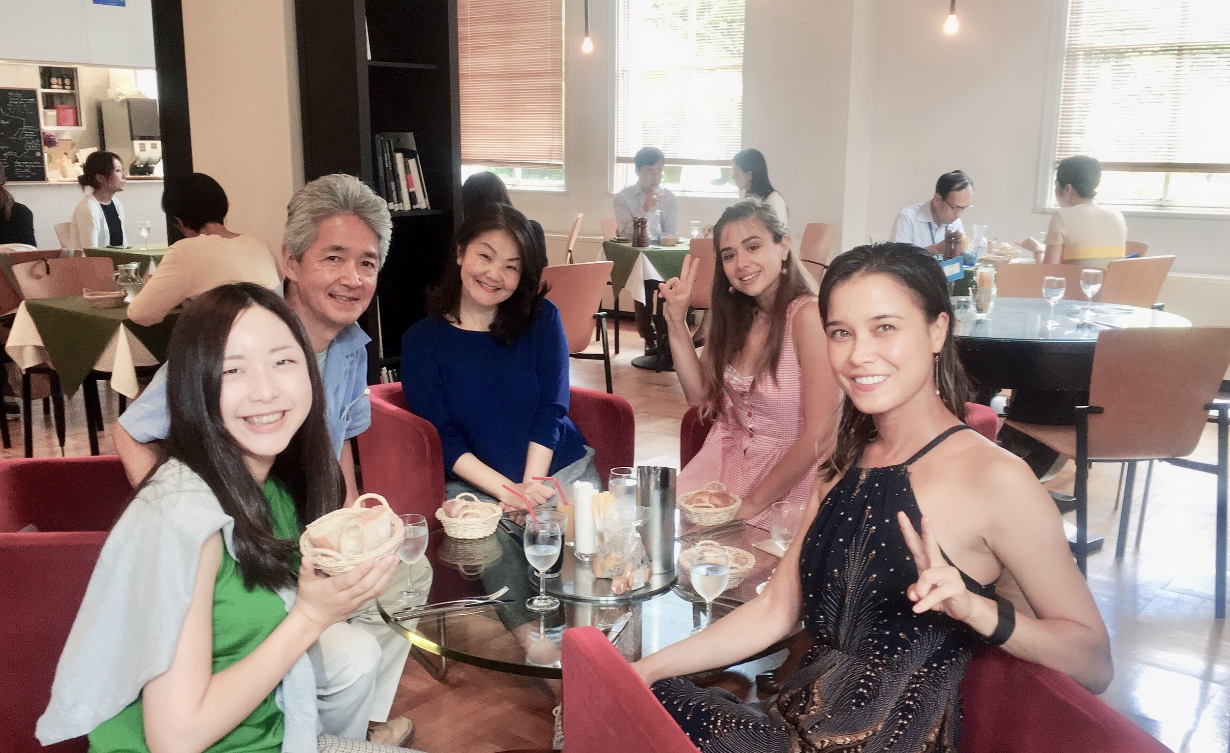 Lunch with Japanese Students and Albanian Student.JPG