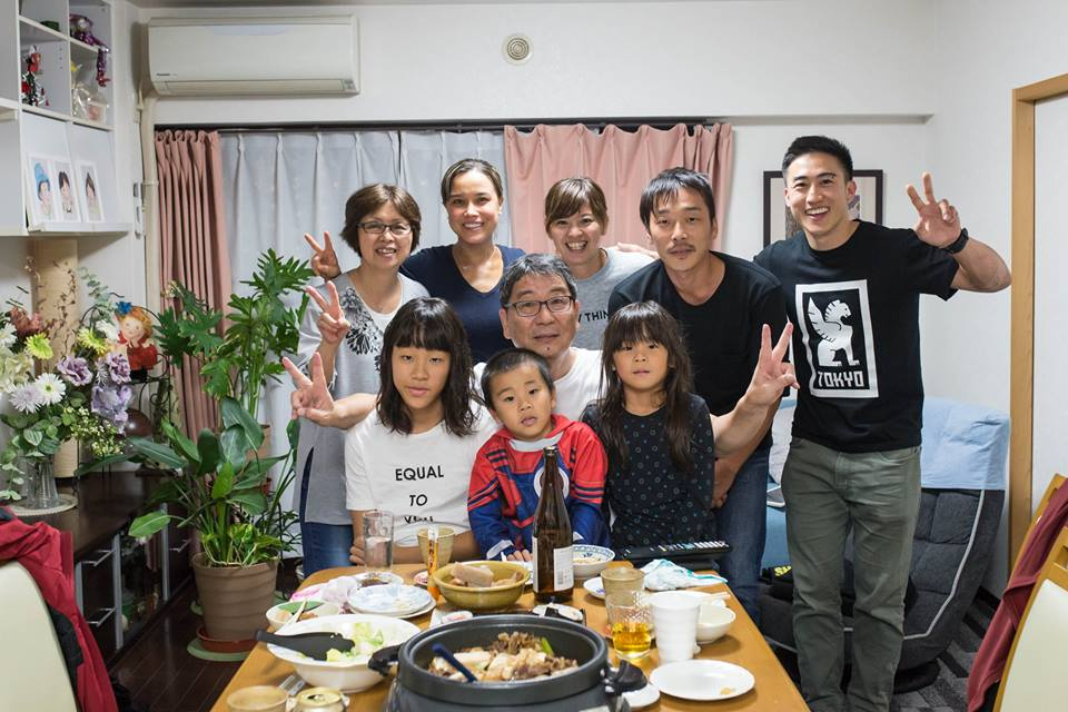 Enjoying a Gluten-Free Meal with My Japanese Family & a Friend from San Francisco
