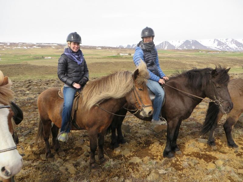 Put a white mane and tail on the nearest horse and you have Peanuts. Photographer Brandy Lauren and Dave enjoying a ride in Iceland.  Photo Courtesy  brandylaurenphoto.com