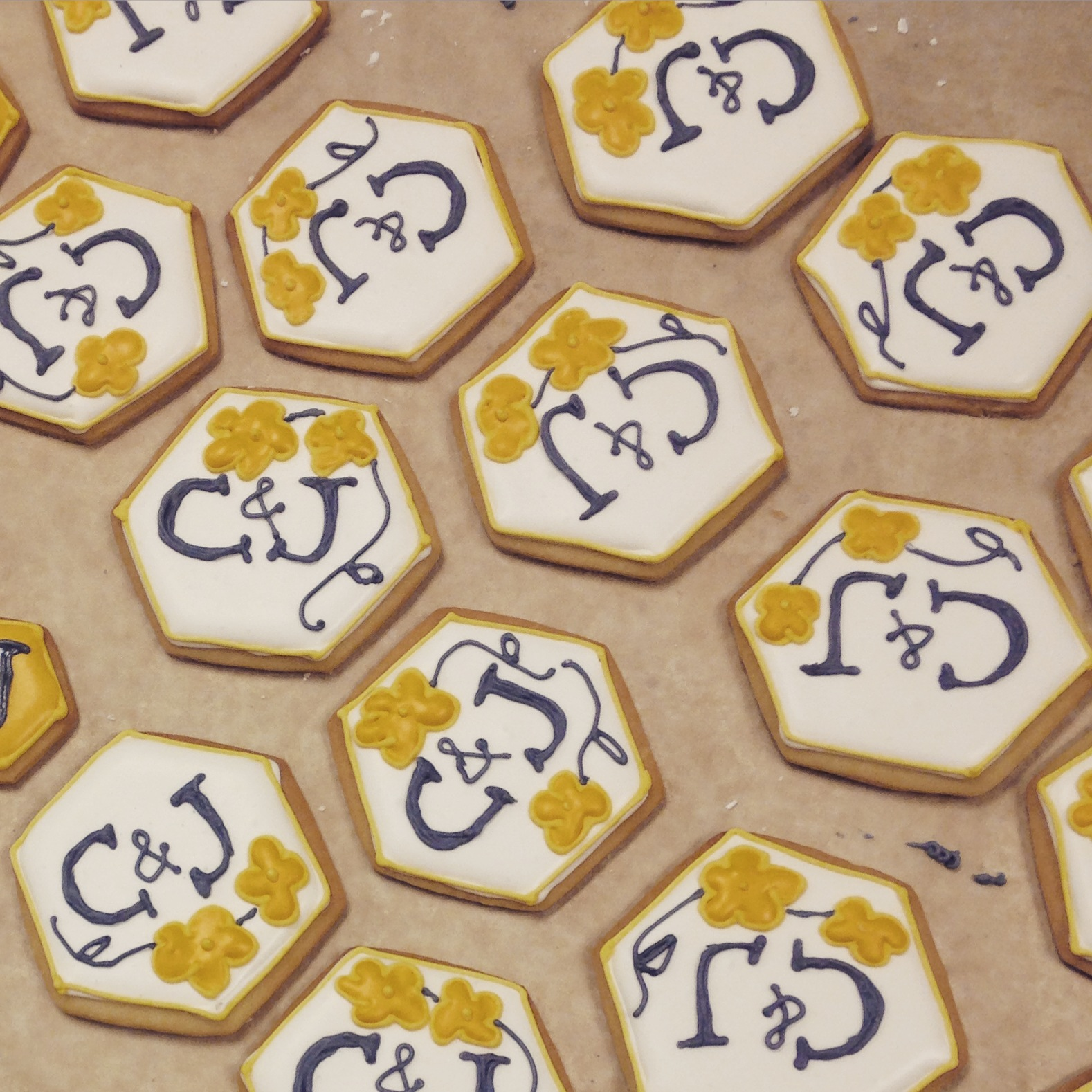 Wedding Monogram Cookies