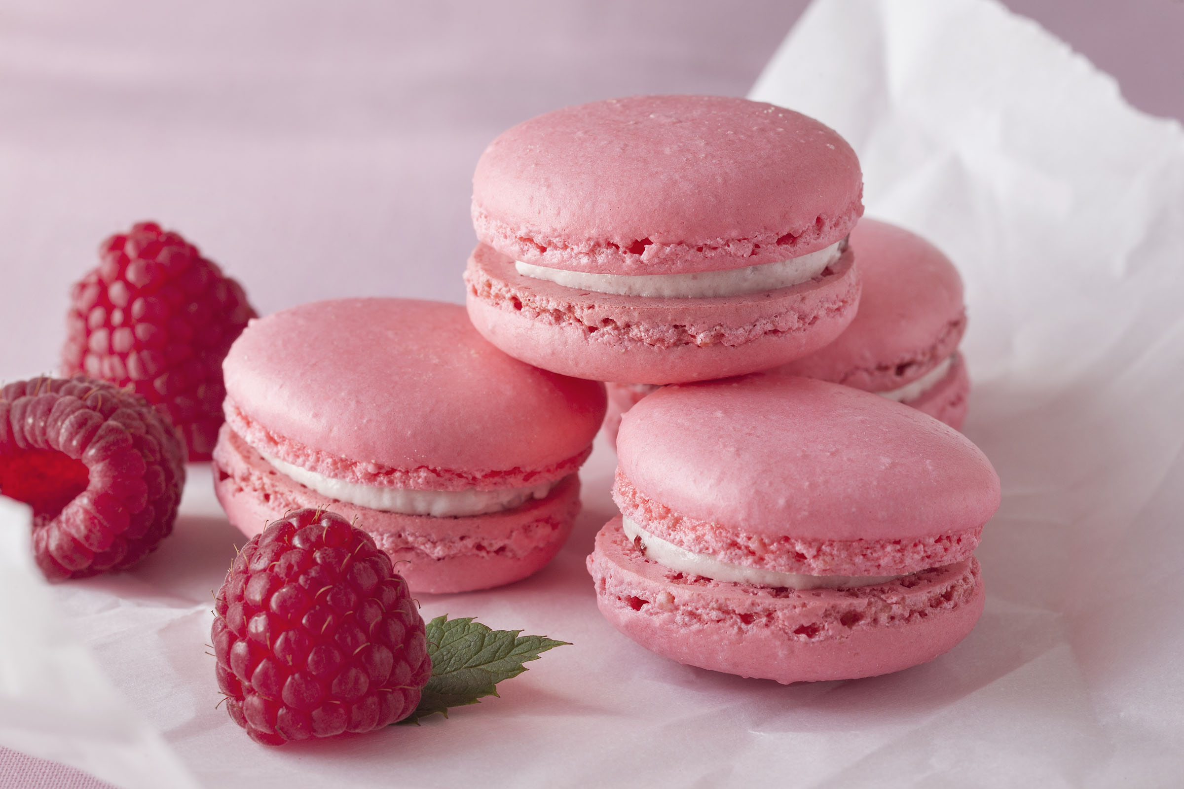 Raspberry French Macaron