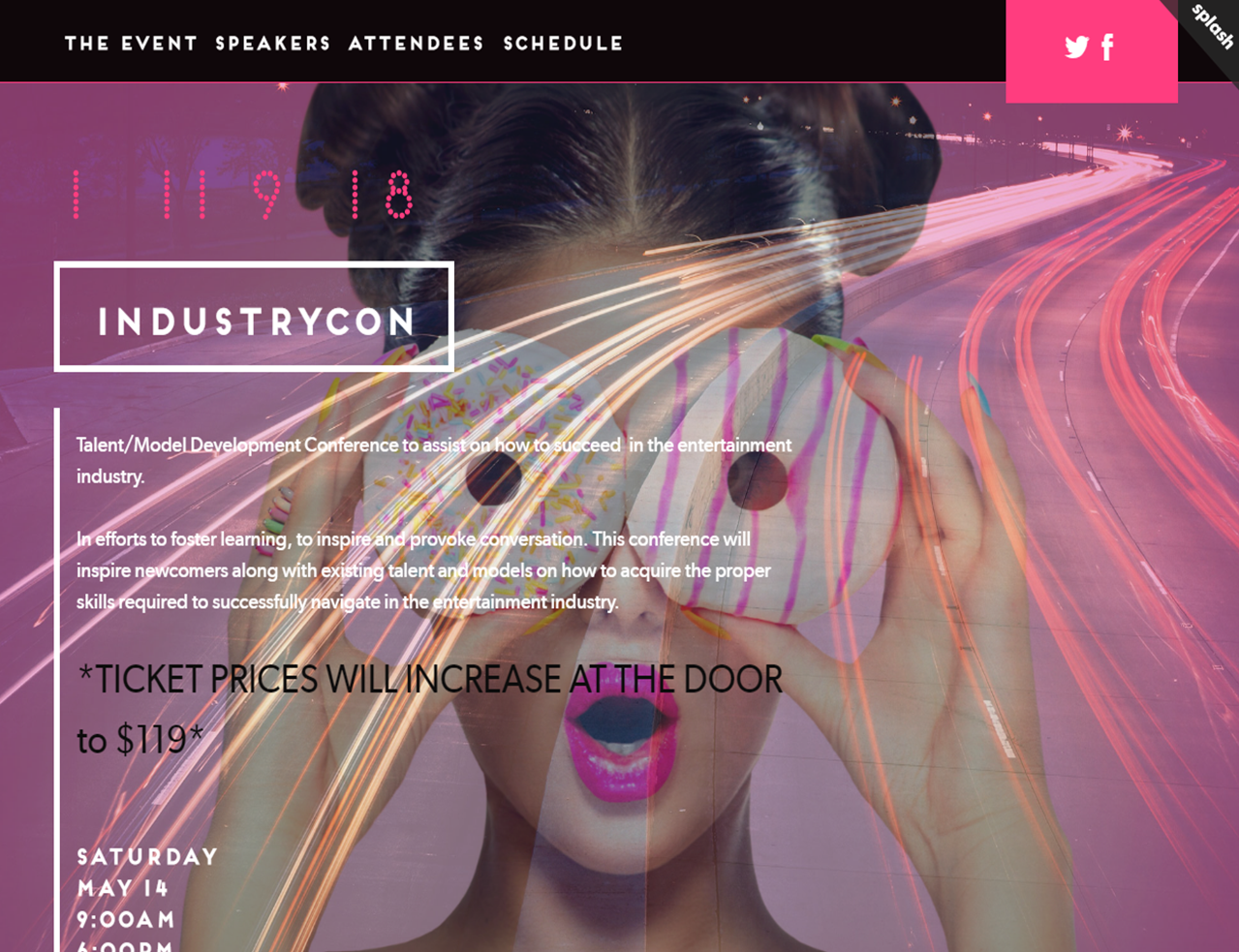 Tickets Available via   http://industrycon.splashthat.com
