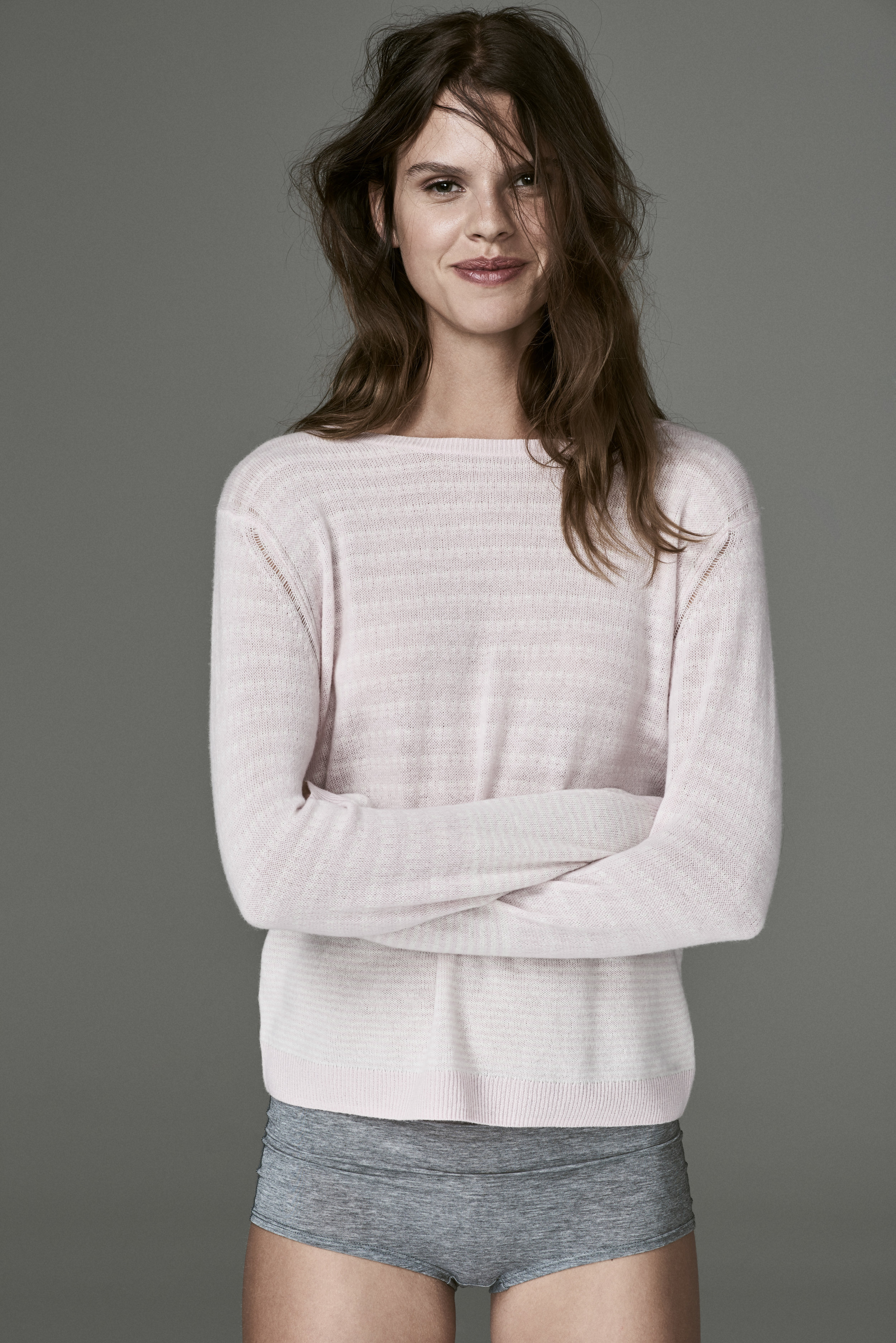 WHETHER YOU ARE ALWAYS ON-THE-GO OR RELAXING OFF DUTY, OUR EXCLUSIVE PINK LEMONAID KNIT SWEATER IS THE EPITOME OF LUXE LOUNGEWEAR. PANTS OPTIONAL OF COURSE. CLICK FOR DETAILS.