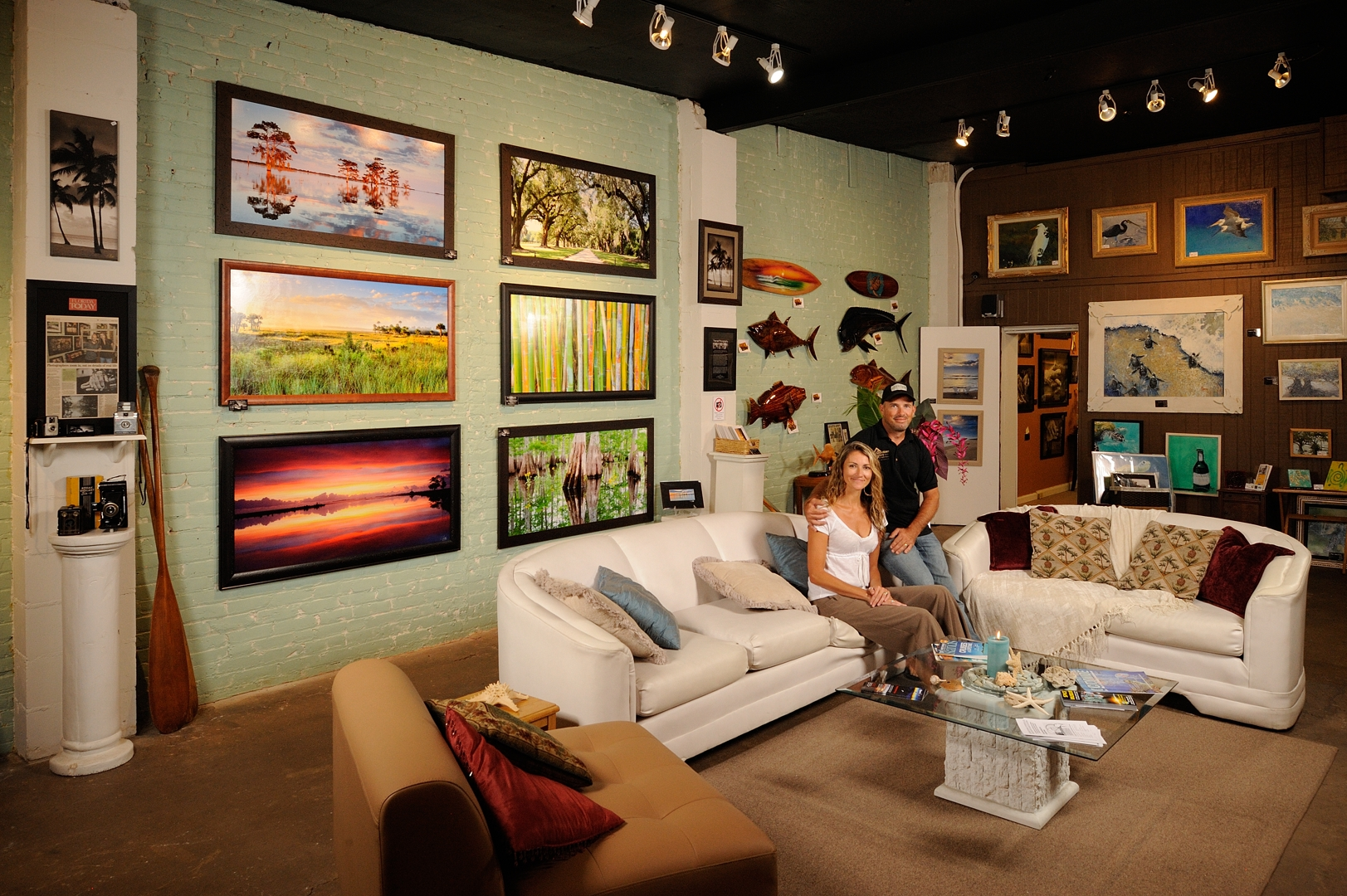Heidi & Jeff Thamert (Owners) welcome you to the Downtown Art Gallery