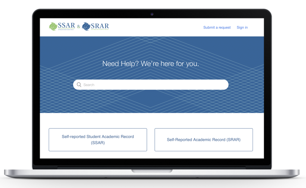 We're here to help. - Our Help Center will support you as you complete the Self-Reported Academic Record (SRAR, SSAR in Florida). Receive step-by-step guidance, view video tutorials, and find answers to the most common questions.