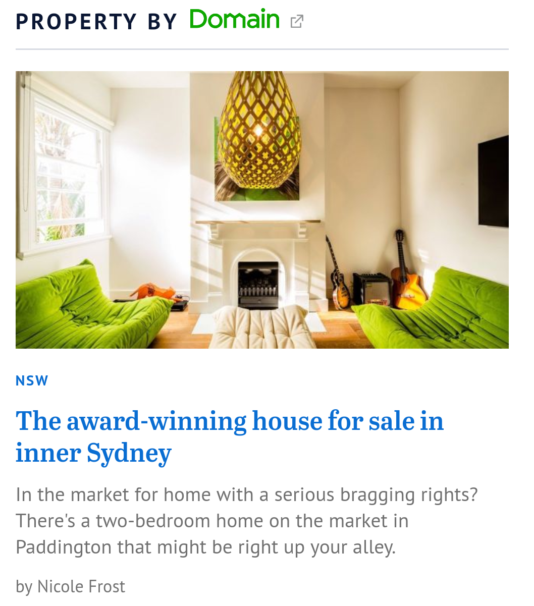 SMH.com.au - Award-winning house