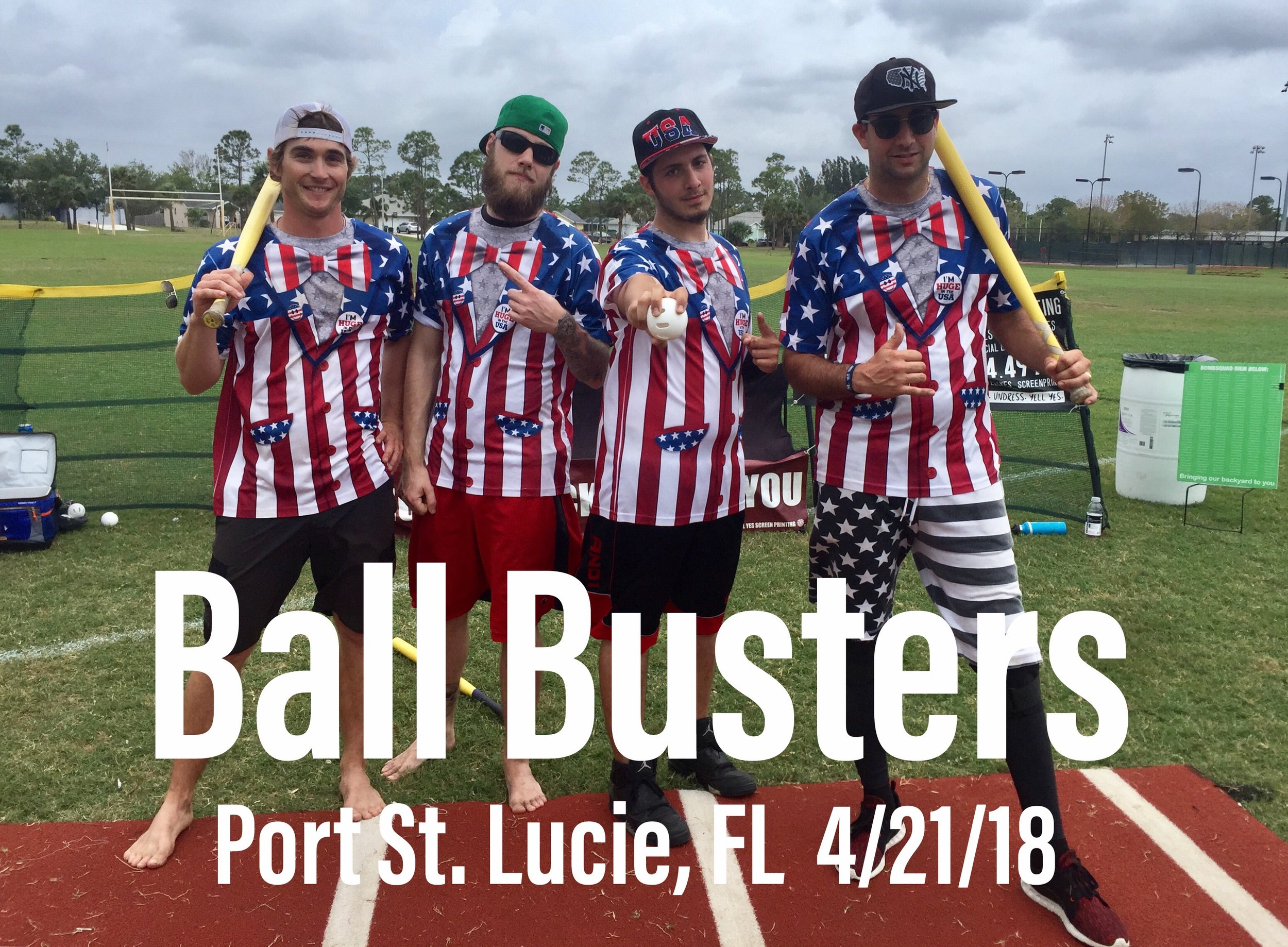 "THE DEFENDING CHAMPS ARE: ""The Ball Busters"""