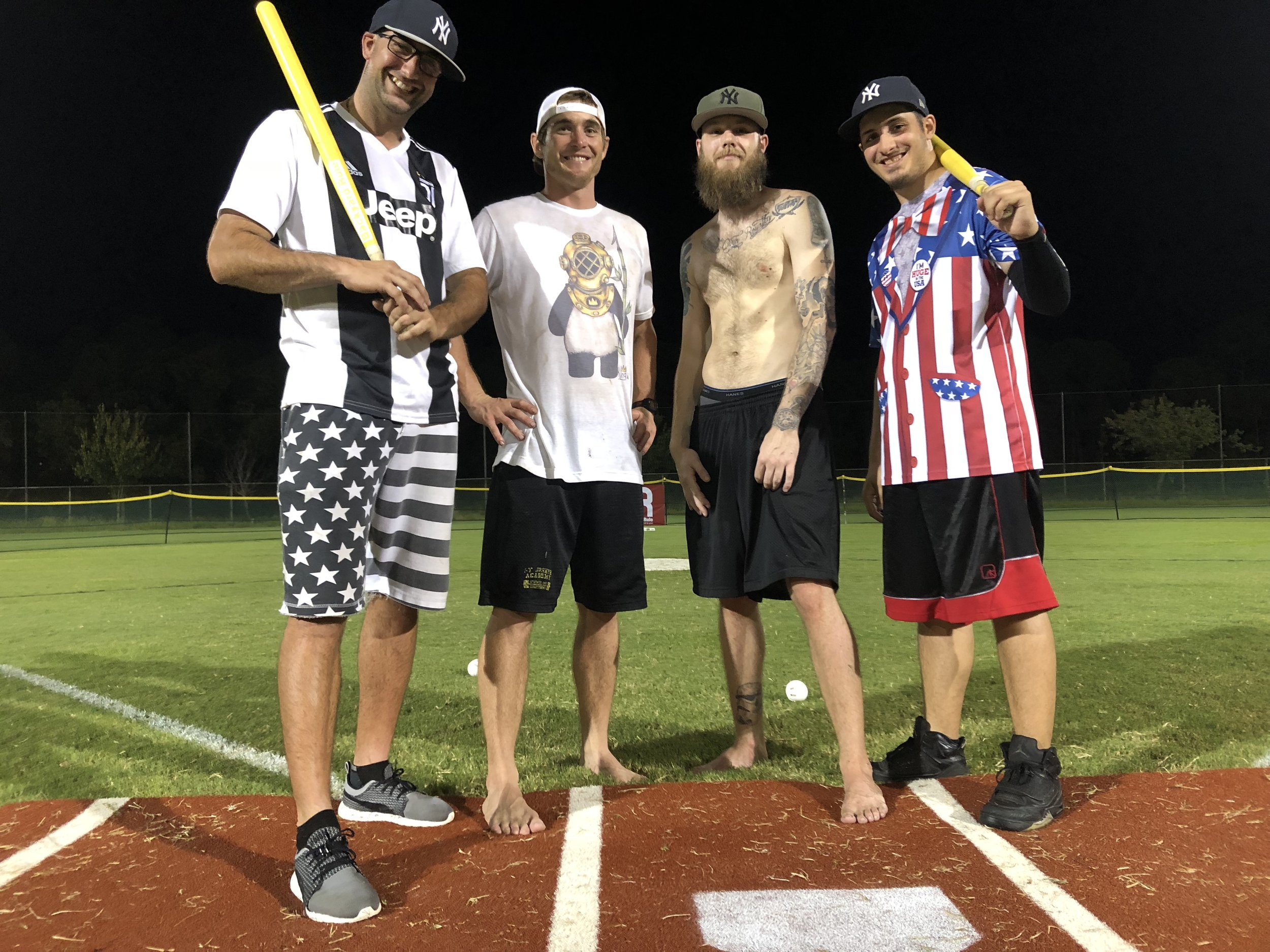 """""""Ball Busters""""(from left to right)Anthony Digiorgio, Nate Fudala, David Haistch, Mike Campanile."""