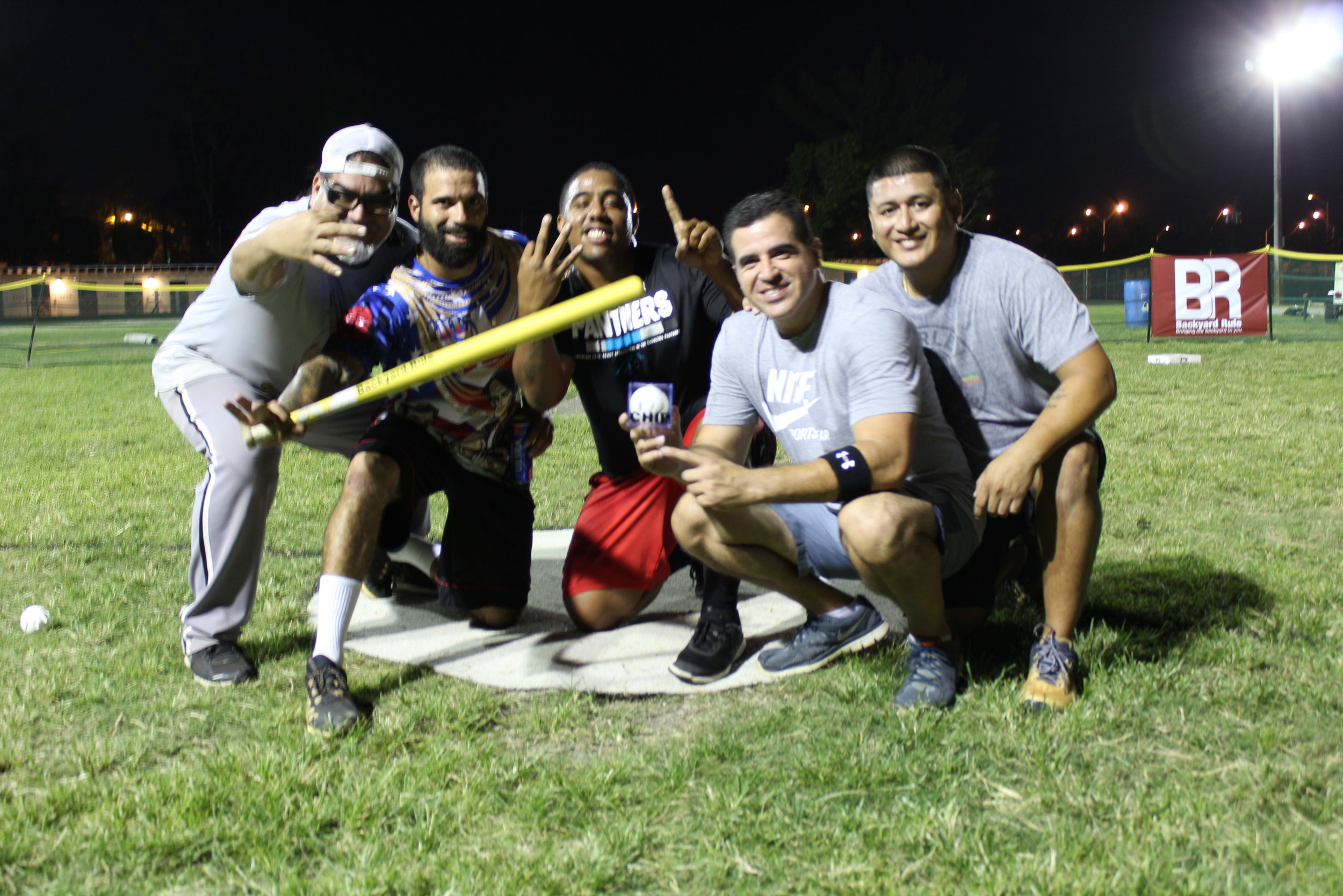 """Dirty South""  (from left to right): Manny Mondragon, Carlos Gonzalez, Ismael Scott, Alex Lopez, Treycia Arrieta"