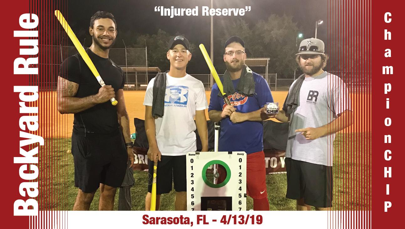 Injured Reserve hold the Sarasota ChampionCHIP