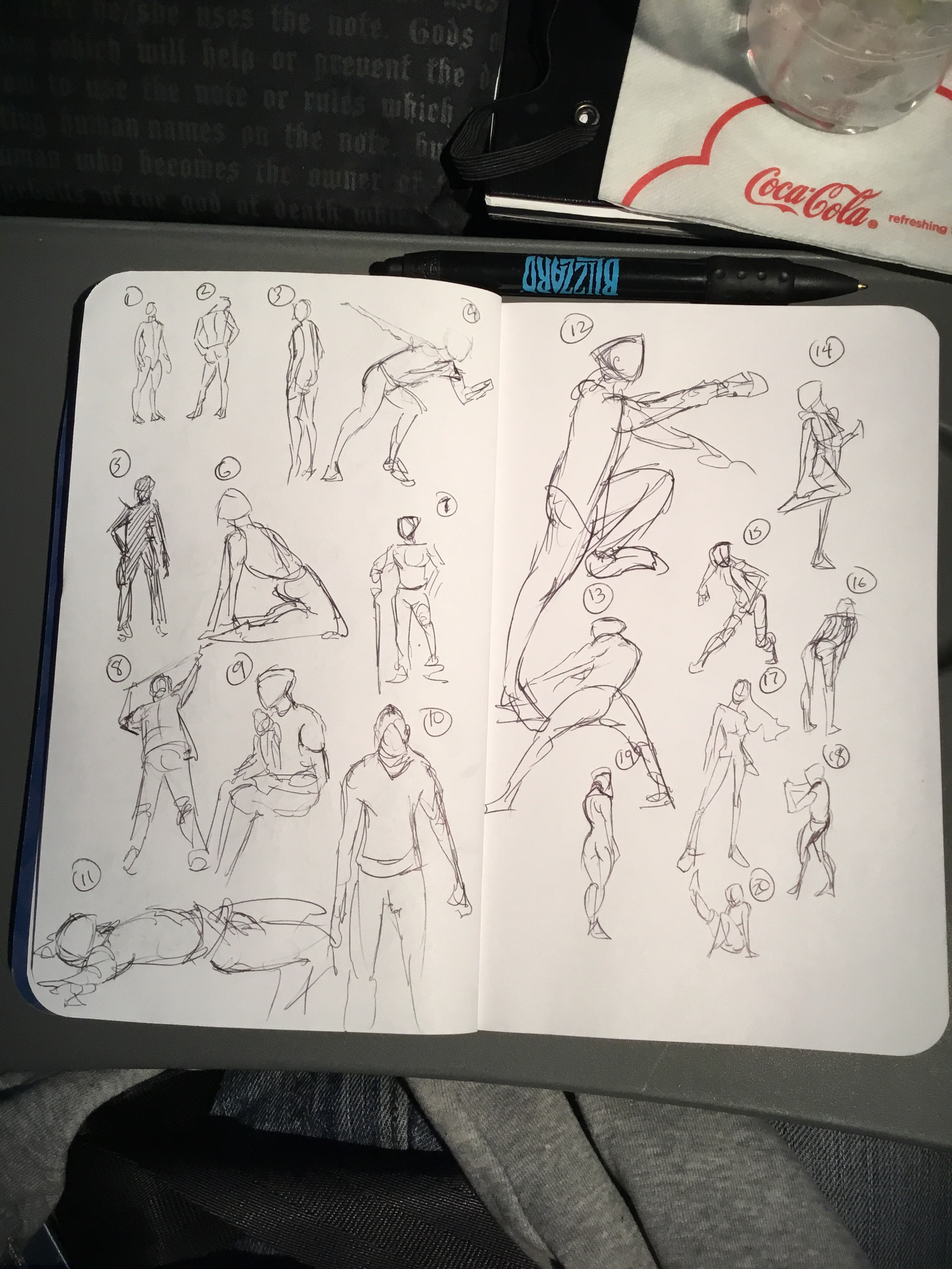 The start of my 20 gestures a day project this year.