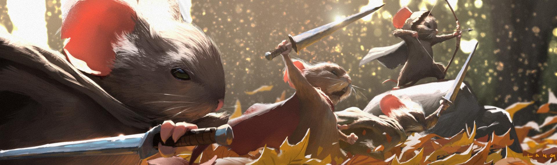Ryan Lang's Mouseguard painting