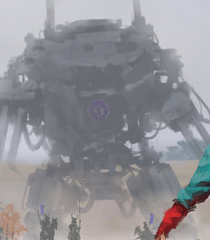 The background mech