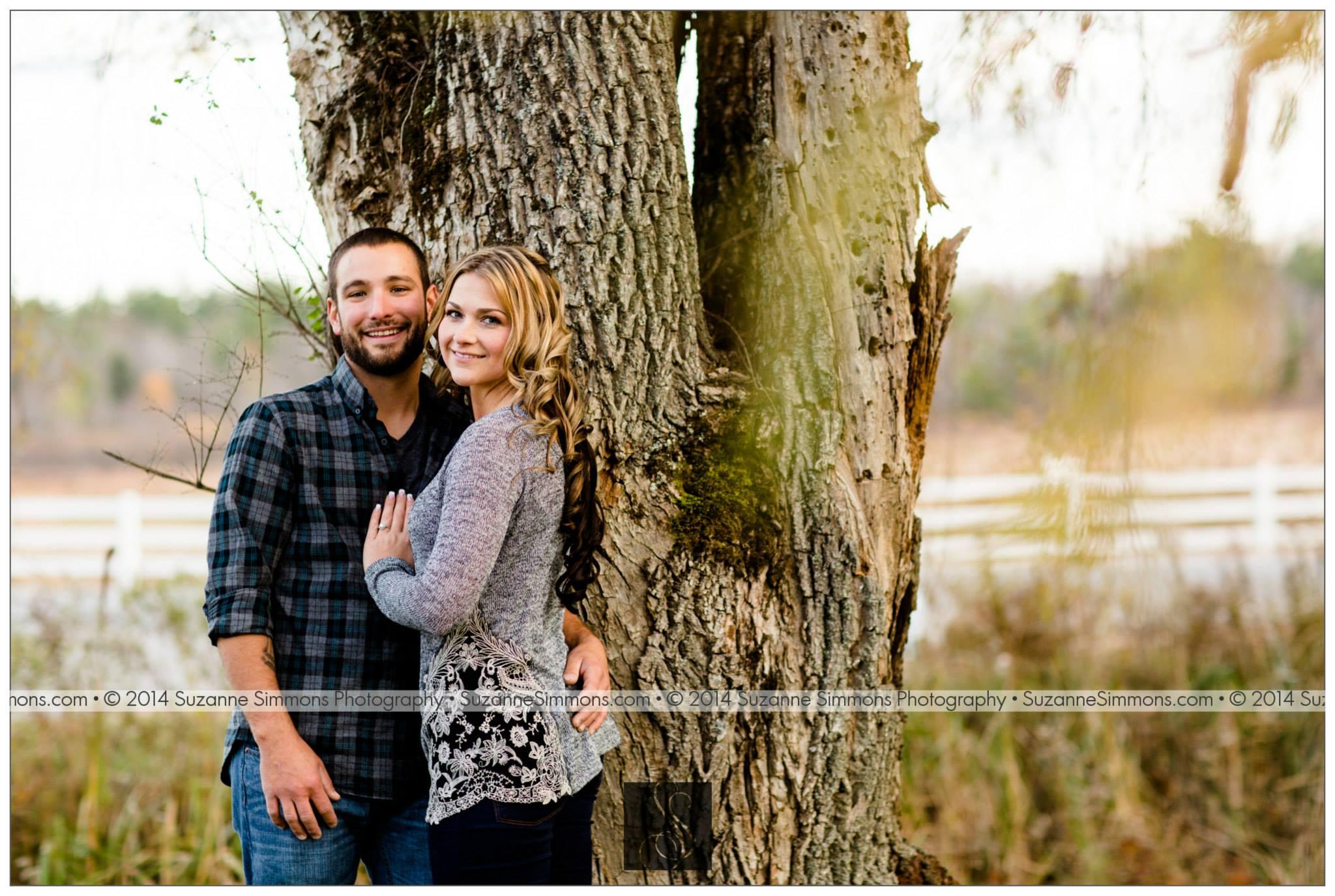 Pineland Farms Wedding Engagement Portraits