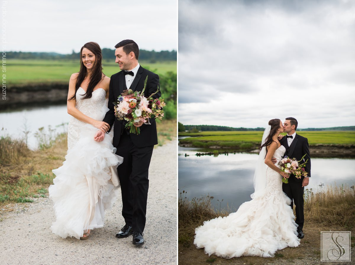 Scarborough Maine wedding portraits