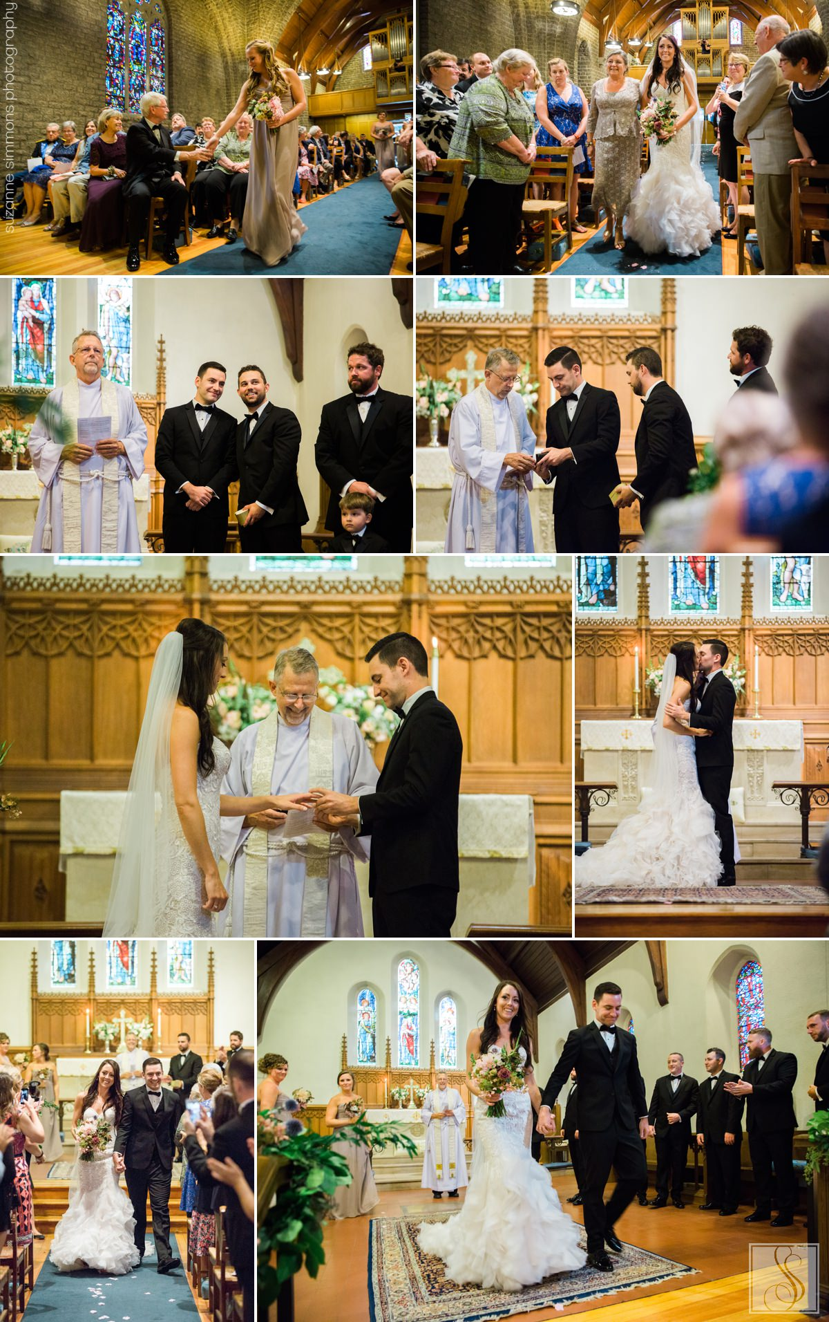 Summer Wedding at St. Mary's Church in Falmouth, Maine