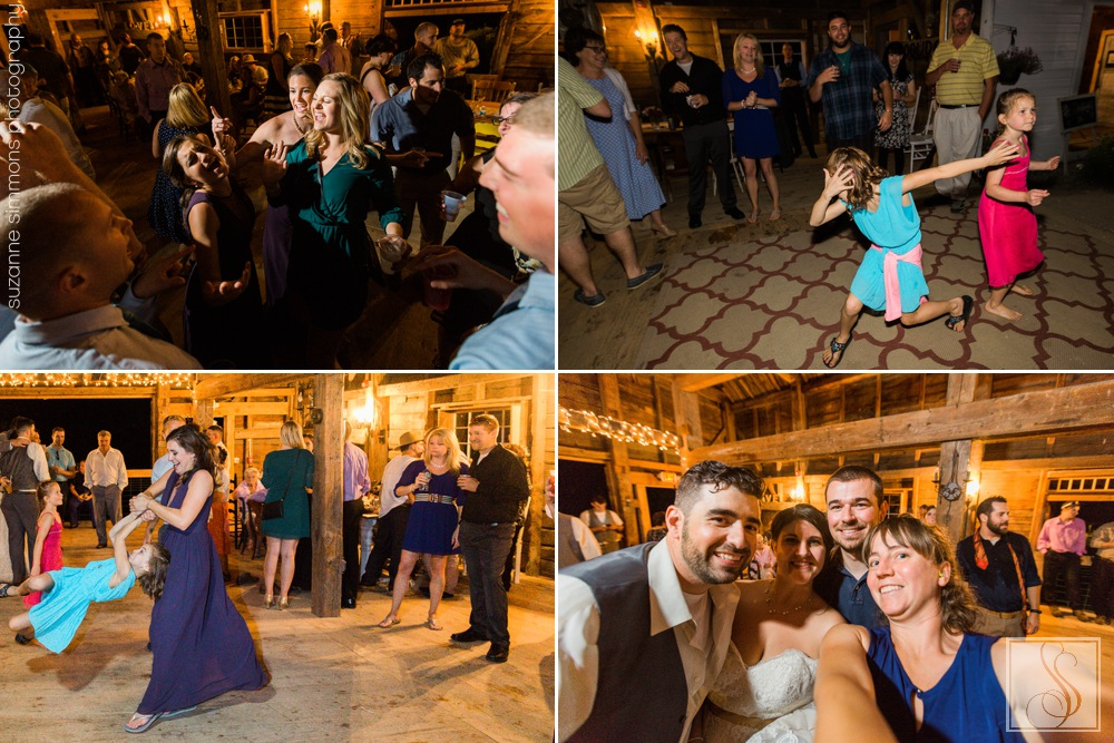 Wedding reception at Coolidge Family Farm in New Gloucester, Maine