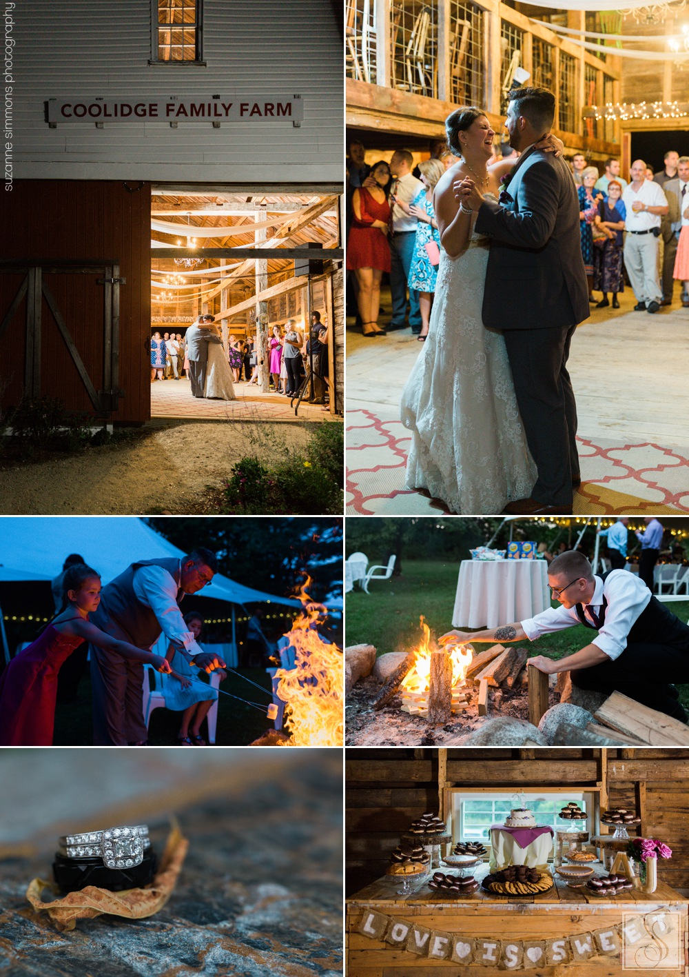 Rustic wedding at Coolidge Family Farm