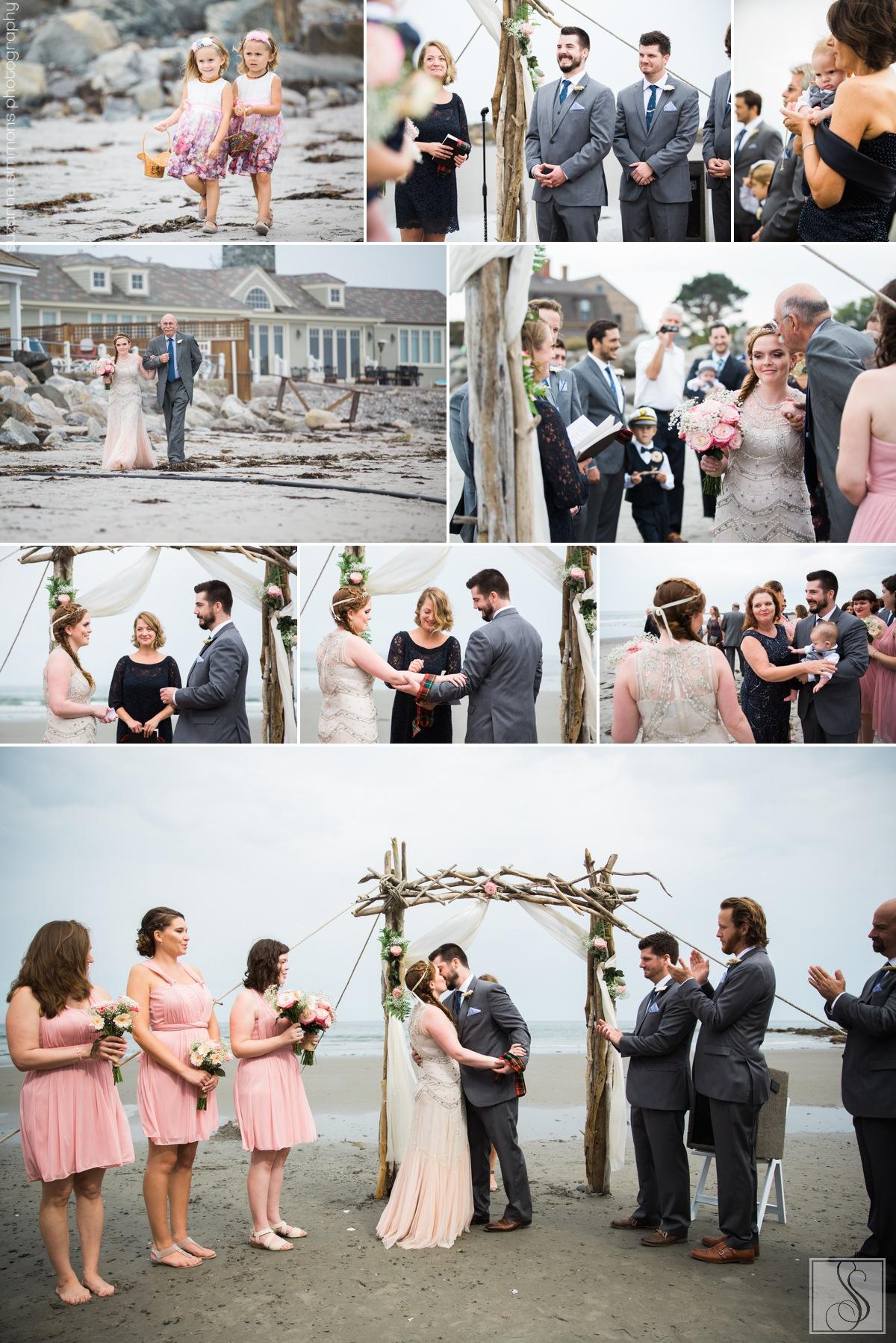 Rye Beach New Hampshire Seaside Wedding