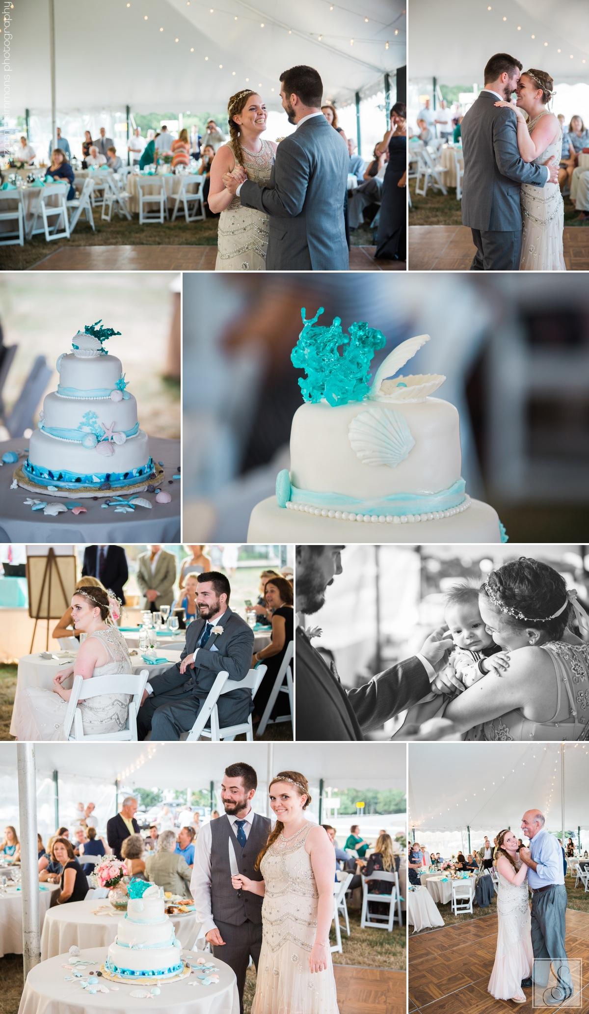 Tented Rye Beach New Hampshire Wedding Reception