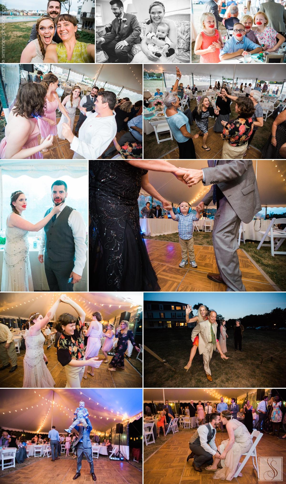 Rye Beach New Hampshire Wedding Reception