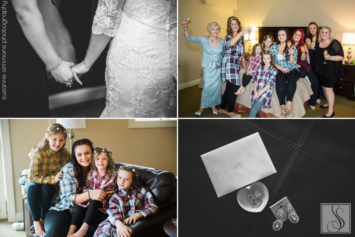 Maine wedding preparations