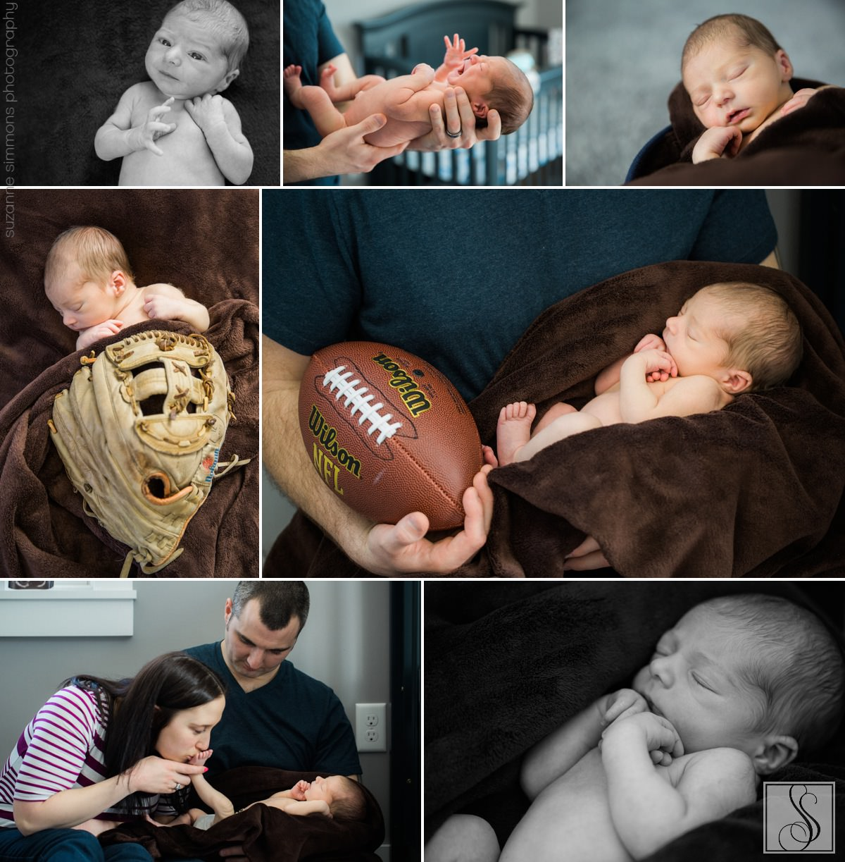 Gray Maine Newborn Portraits