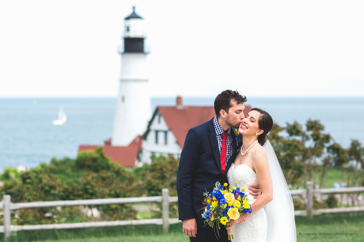 Maine wedding at Portland Headlight