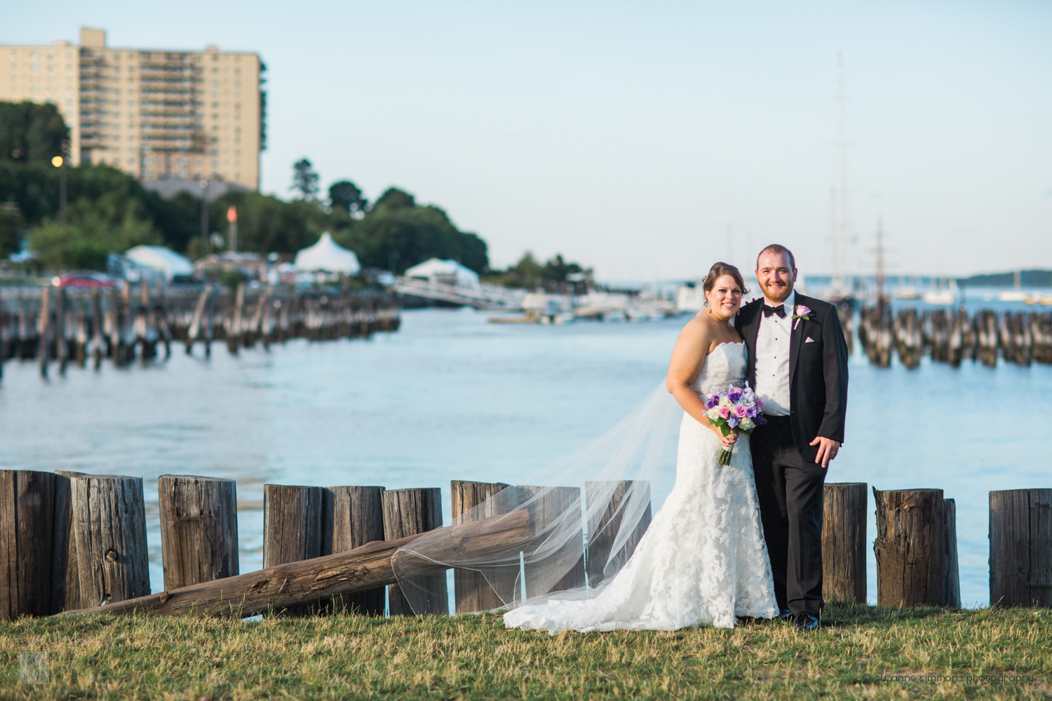 Wedding Portraits at the Ocean Gateway in Portland, Maine