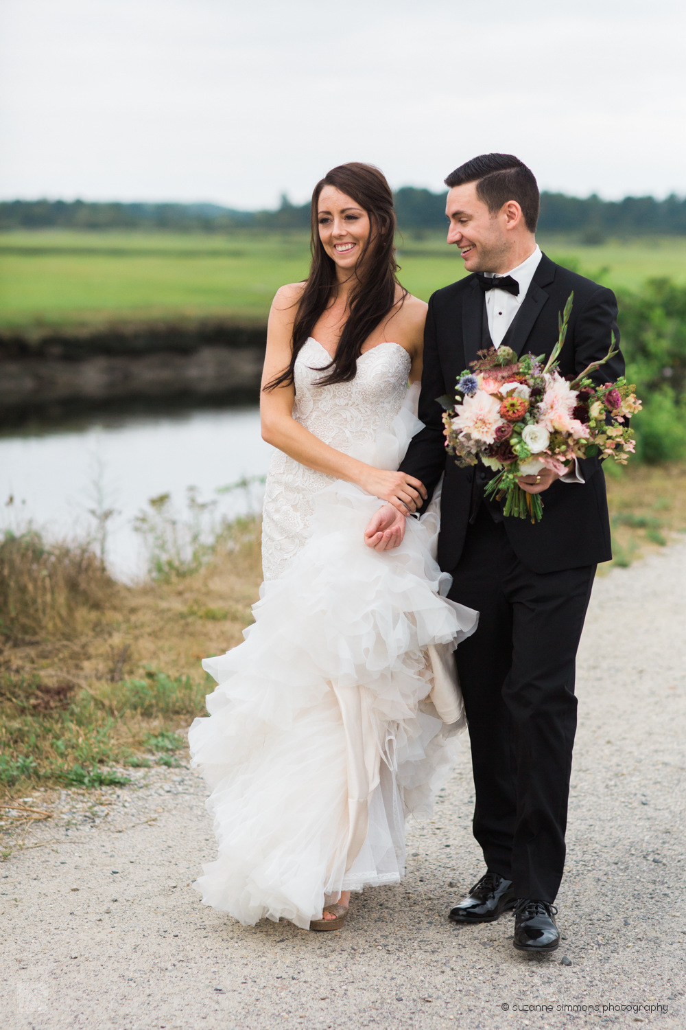 Bridal Portraits at the Scarborough Marsh