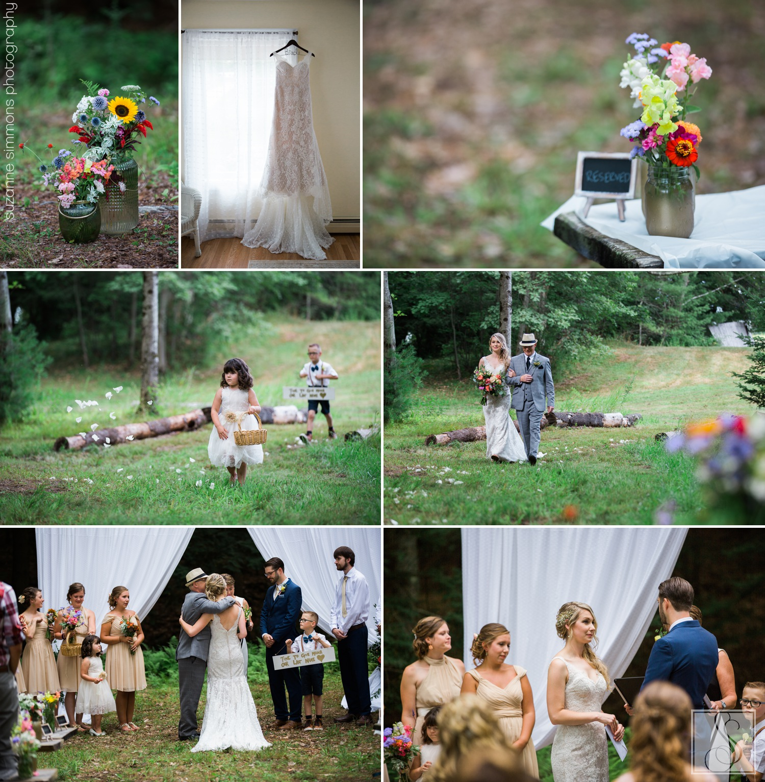 Little River Flower Farm Wedding Ceremony