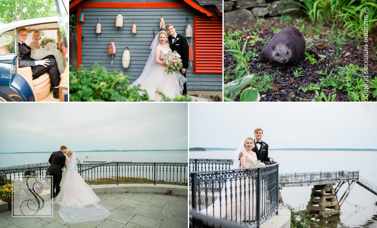 Wedding Portraits at the Bar Harbor Regency Stone House