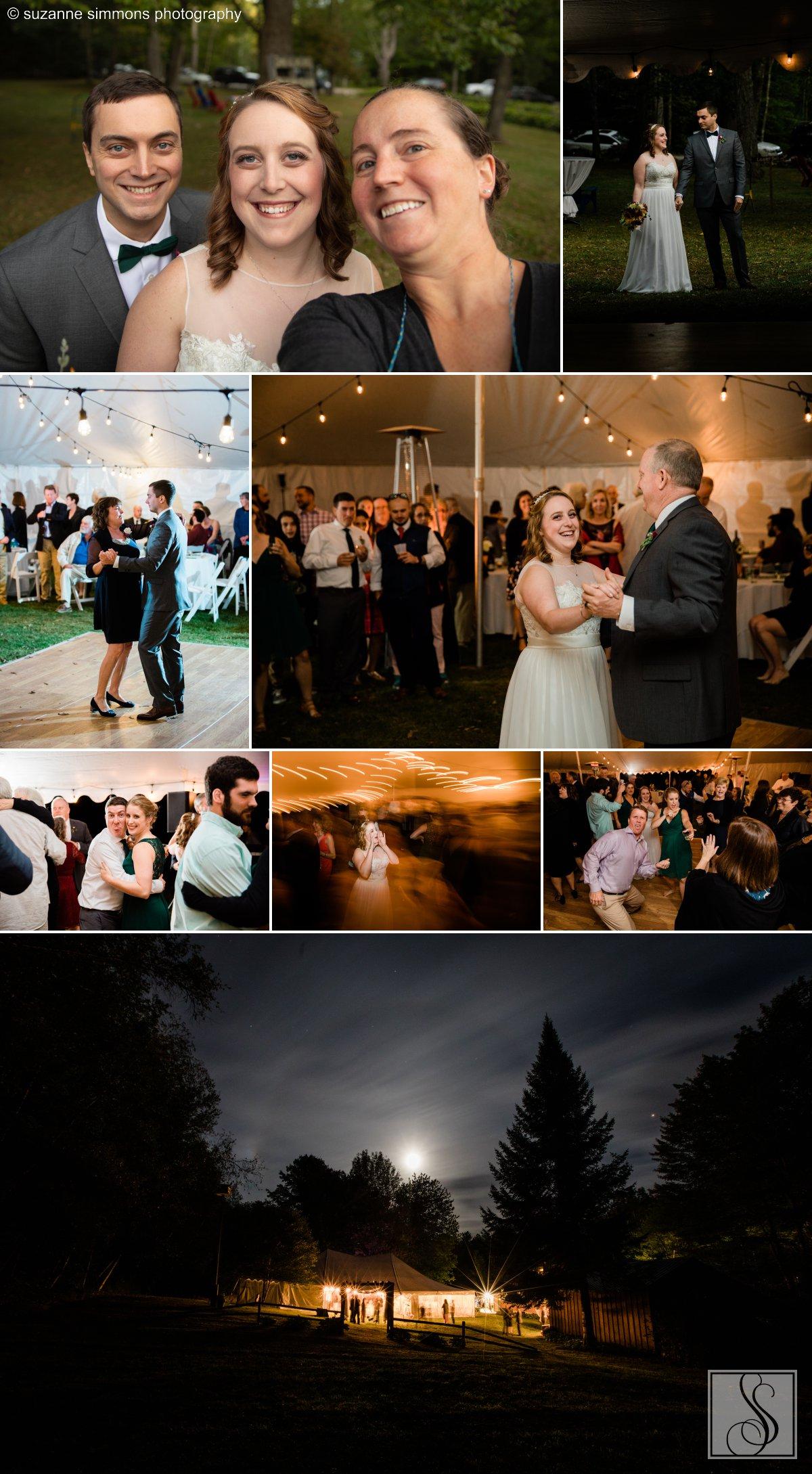 Maine tented wedding reception
