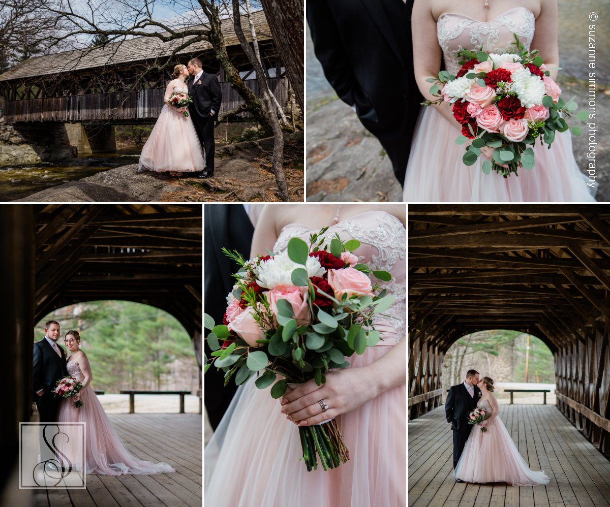 Wedding Portraits at Sunday River Bridge