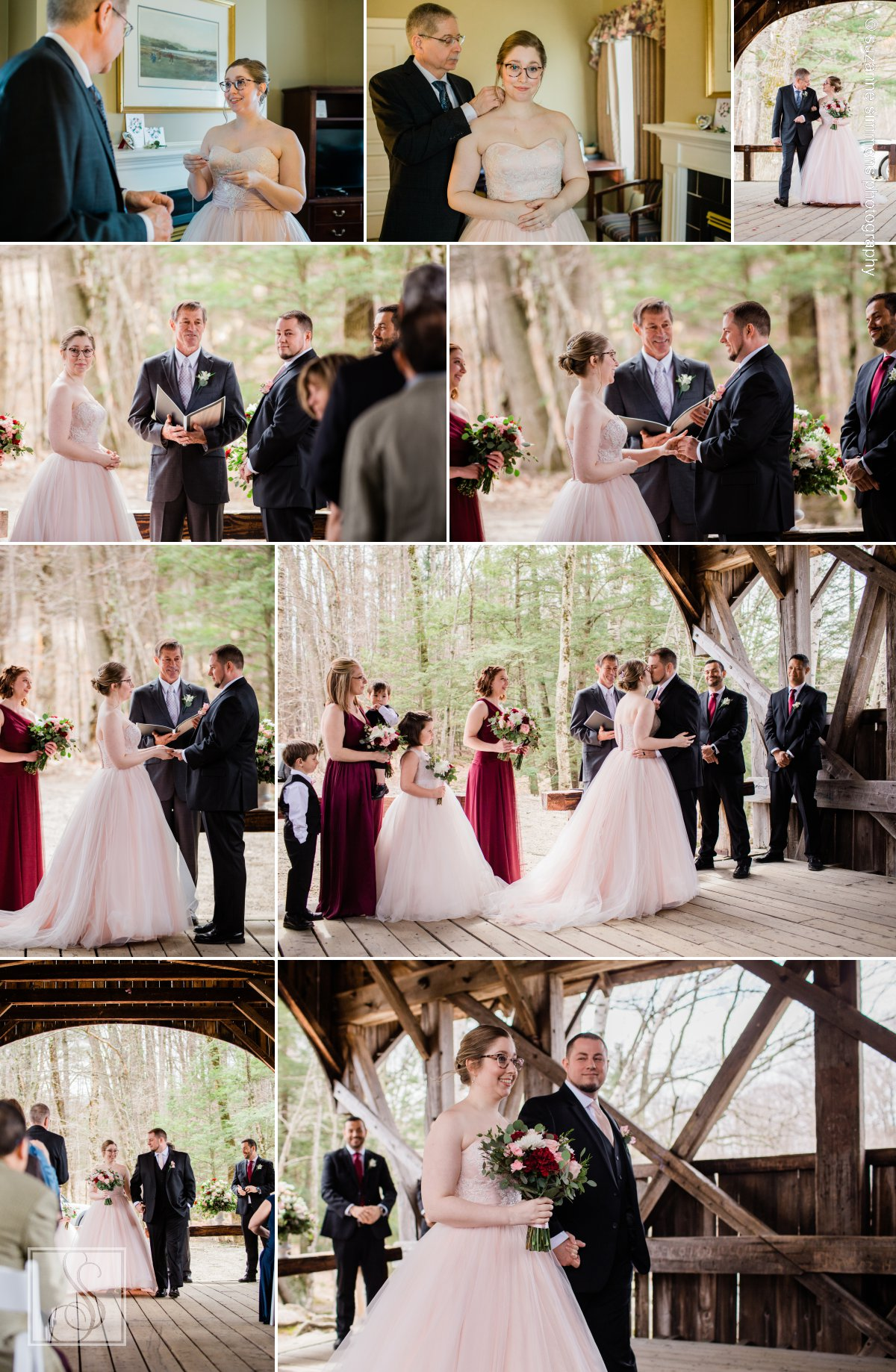 Sunday River Bridge Wedding Ceremony